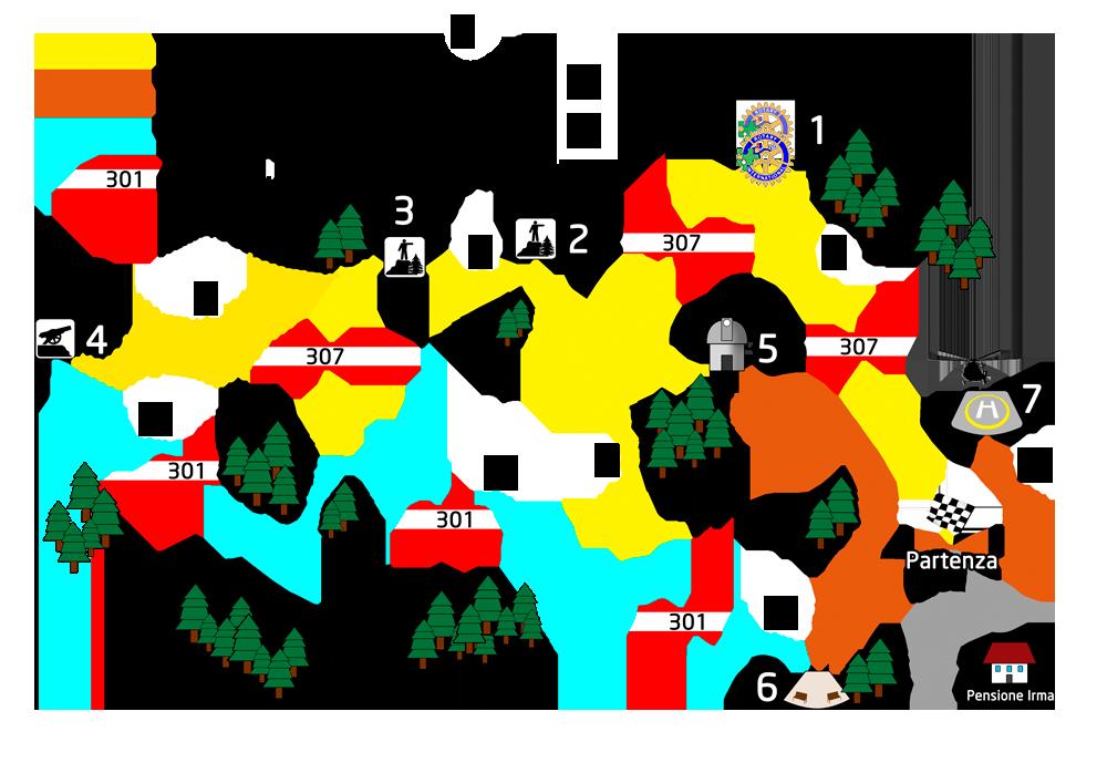 """Mappa sentiero panoramico """"CAMPO DEI FIORI 360"""""""